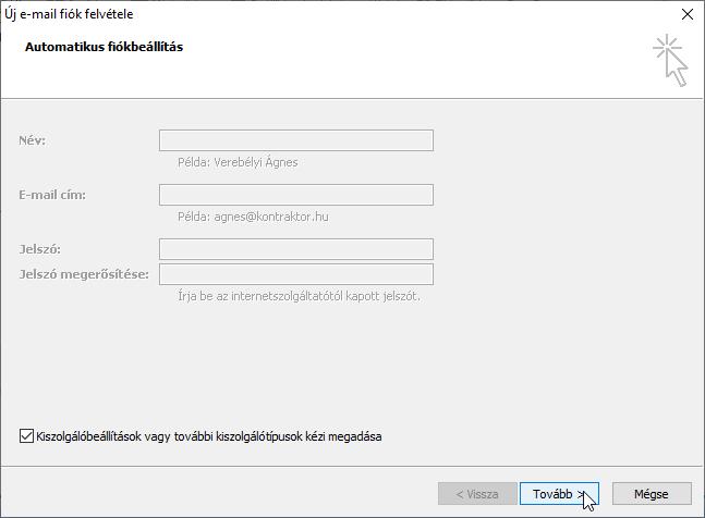opció műhely konfigurálása